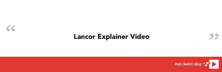 Featured Video of the Week - Lancor